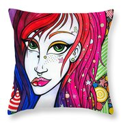 Duality Core Throw Pillow