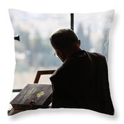 conceptual image of Christianity  Throw Pillow