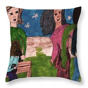 Concerned Mother Throw Pillow