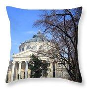 concert hall in Bucharest, Romania Throw Pillow