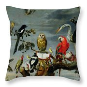 Concert Of Birds Throw Pillow