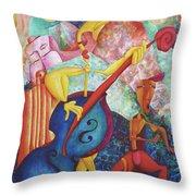 Concerto For Dingo And Tiki God Throw Pillow
