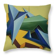 Concezione Volumetrica 3 Throw Pillow