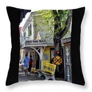 Conch Tour Train Stop Throw Pillow