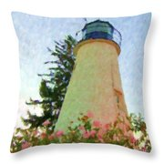 Concord Point Lighthouse Throw Pillow