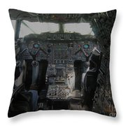Concorde Cockpit Throw Pillow