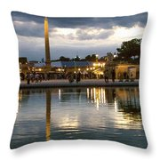 Concorde Paris Silhouettes Throw Pillow