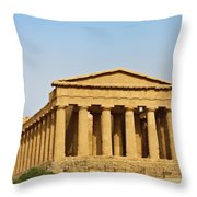 Concordia Temple In Agrigento, Sicily, Italy Throw Pillow