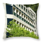 Concrete And Glass Throw Pillow