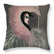 Concrete Angel Throw Pillow