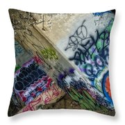 Concrete Art Throw Pillow