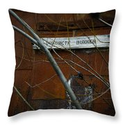 Concrete Bunker Throw Pillow