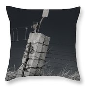 Concrete Post No 1 7257 Throw Pillow