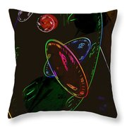 Concurrent Clocks Throw Pillow