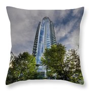 Condominiums Along Waterfront In Vancouver Bc Throw Pillow