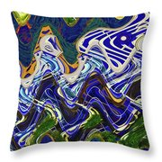 Condos On The Beach Abstract Throw Pillow
