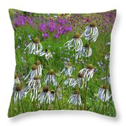 Cone Flower Fairy Dance Throw Pillow
