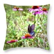 Coneflower Companion Throw Pillow