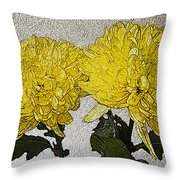 Conversations In The Flower Garden Throw Pillow