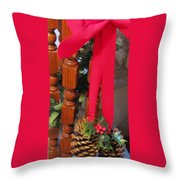 Cones And Bows Throw Pillow