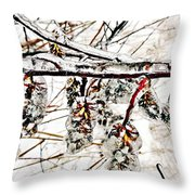 Cones-icicles. Throw Pillow