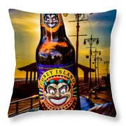 Coney Island Beer Throw Pillow