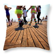 Coney Island Encounters Throw Pillow