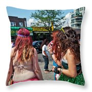 Coney Island Girls Throw Pillow