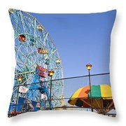 Coney Island Memories 6 Throw Pillow