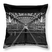 Coney Island Stillwell Ave Subway Station Throw Pillow