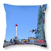 Coney Island's Astroland  Throw Pillow