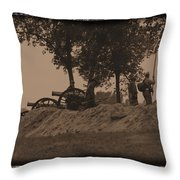 Confederate Artillery Battery Throw Pillow
