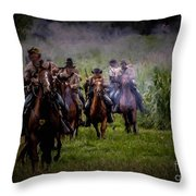 Confederate Cavalry Charge Throw Pillow