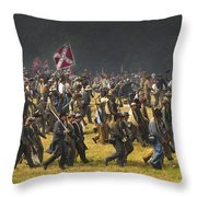 Confederate Charge At Gettysburg Throw Pillow