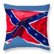 Confederate Flag 3 Throw Pillow
