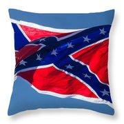 Confederate Flag 4 Throw Pillow