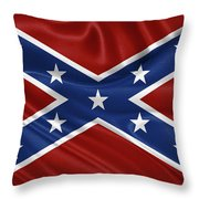 Confederate Flag - Second Confederate Navy Jack And The Battle Flag Of Northern Virginia Throw Pillow