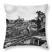Confederate Fort Throw Pillow