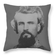 Confederate General Nathan Forrest Throw Pillow by War Is Hell Store