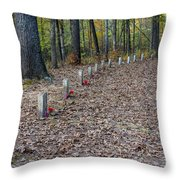 13 Unknown Confederate Soldiers - Natchez Trace Throw Pillow