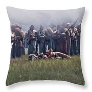 Confederate Infantry Skirmish  Throw Pillow