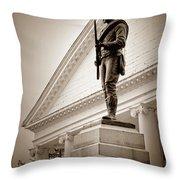 Confederate Memorial In Sepia Tone Throw Pillow