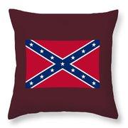 Confederate Naval Jack Flag Throw Pillow