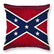 Confederate Rebel Battle Flag Throw Pillow