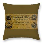 Confederate States Throw Pillow
