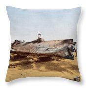 Confederate Submarine, Hunley Throw Pillow