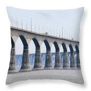 Confederation Bridge 5511 Throw Pillow