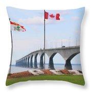 Confederation Bridge 5524  Throw Pillow
