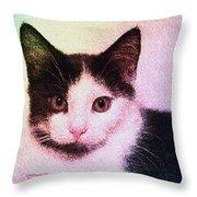 Confetti Kitty Throw Pillow