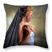 Confident Beauty Throw Pillow